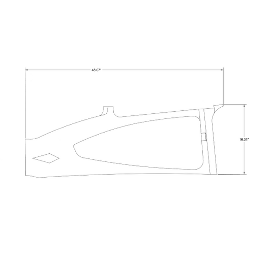 Cessna 182G Skylane LH Side Window P0700702-15-434, 0700702-15-434.