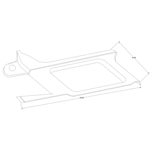 Cessna 206 Stationair RH Forward Moulding P1215105-1, 1215105-1, 1215105-1-532, 1215105-1-B40