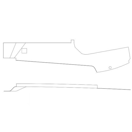 Cessna 182 Skylane LH Upper Trim Panel. P2215022-11, 2215022-11