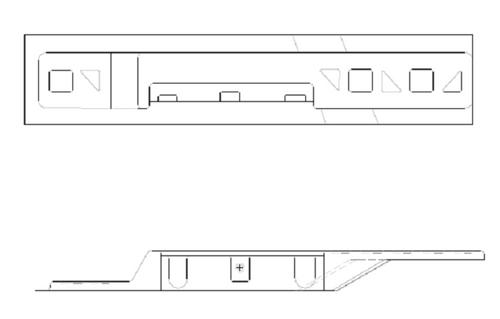 Cessna 182 Skylane RH Rear Armrest Support. P2215027-2, 2215027-2