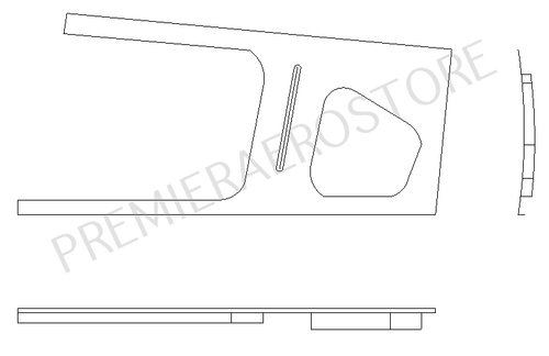 P39759-37, Cover Assembly Window Trim Rear Right, 39759-37, Piper