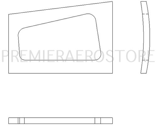 P69859-11, Upper Cargo Door Cover, 69859-11