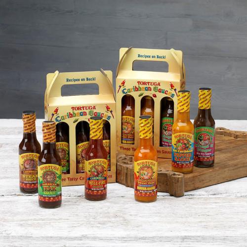2 Three Packs Tortuga Caribbean Sauce Pack (6 Bottles)