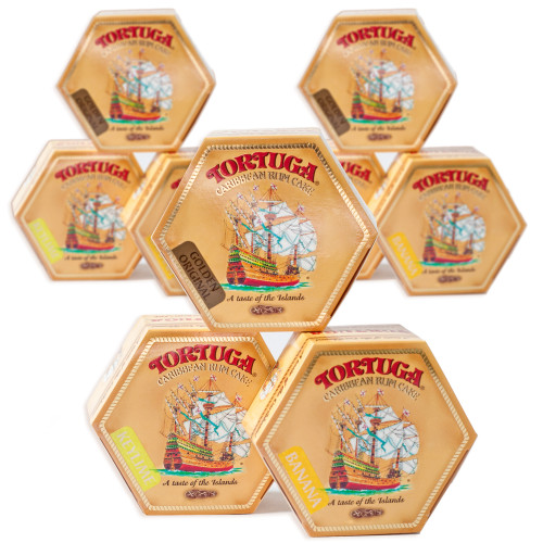 Case of 9 Tortuga Rum Cake VARIETY (16oz)