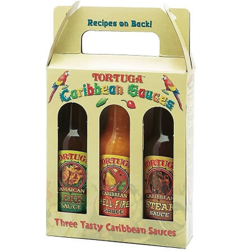 1 Three Pack Tortuga Caribbean Flava Sauce Pack (3 Bottles)