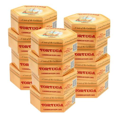 12 Pack of 4oz Golden Original Tortuga Rum cakes