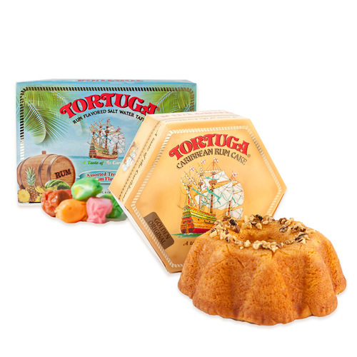 Tortuga 16oz Golden Original Rum Cake and Taffy