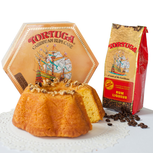 32 oz. Golden Original Rum Cake & 10 oz. Rum Liqueur Ground Coffee