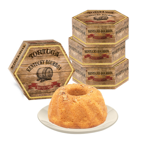 4 Tortuga 4oz Kentucky Bourbon Butter Cake
