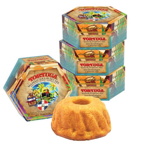 4, 4oz Tortuga Mamajuana Rum Cake