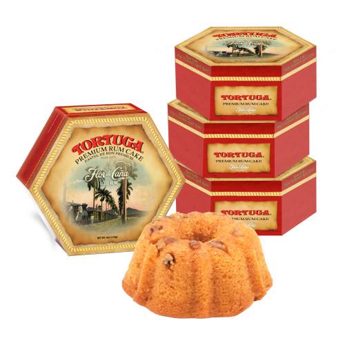 4 pack - 4oz Flor De Cana Rum Cake