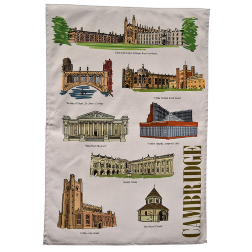 Cambridge Landmarks Tea Towel