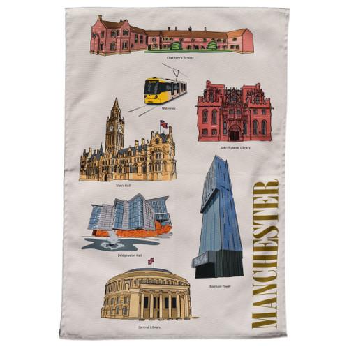 Manchester Landmarks Tea Towel