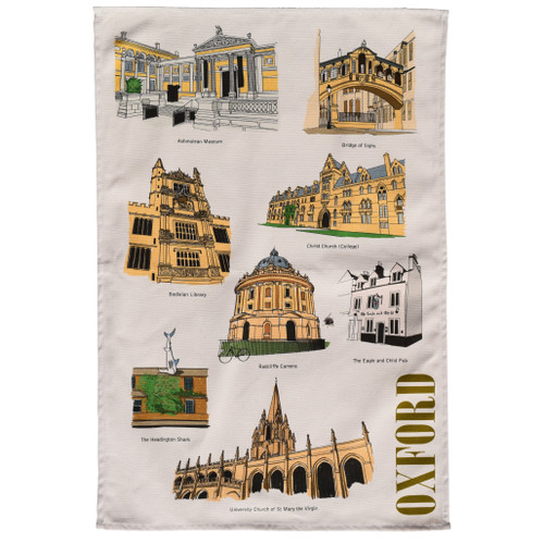 Oxford Landmarks Tea Towel