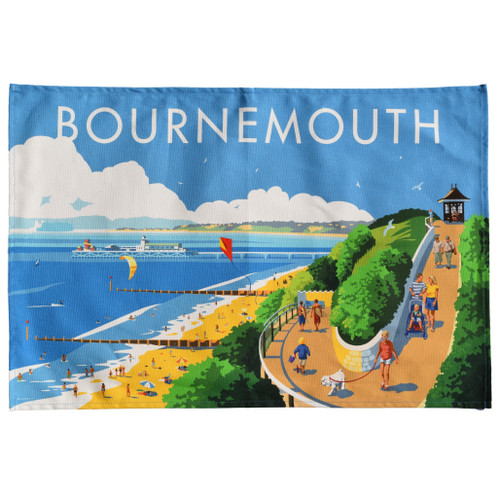 Bournemouth Beach Tea Towel