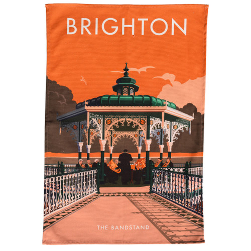 Brighton Bandstand Tea Towel