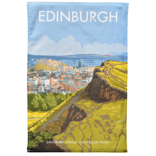 Edinburgh Holyrood Park Tea Towel