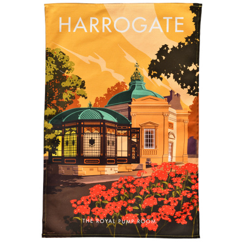 Harrogate Royal Pump Room Tea Towel