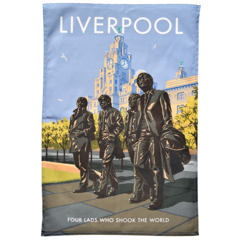 Liverpool Beatles Tea Towel