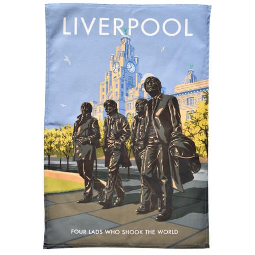Liverpool Beatles Tea Towel