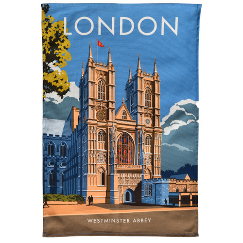 London Westminster Abbey Tea Towel