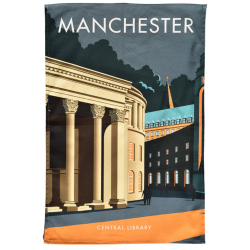 Manchester Central Library Tea Towel