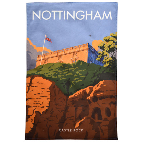 Nottingham Castle Rock Tea Towel