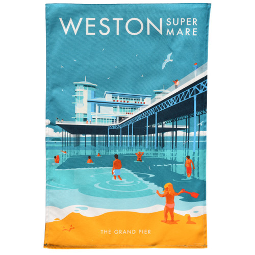 Weston-super-Mare Pier Tea Towel