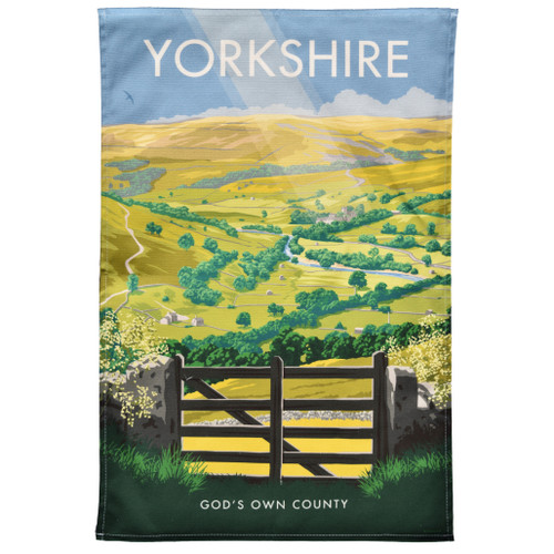 Yorkshire God's Own County Tea Towel