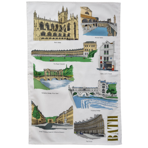 Bath Landmarks Tea Towel