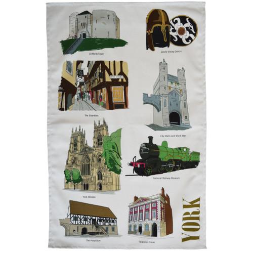 York Landmarks Tea Towel