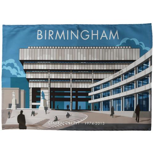 Birmingham Library tea towel