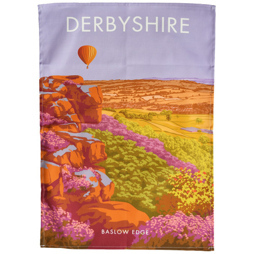 Derbyshire - Baslow Edge tea towel