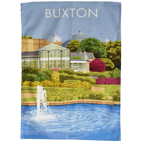 Buxton - Derbyshire Spa Town tea towel
