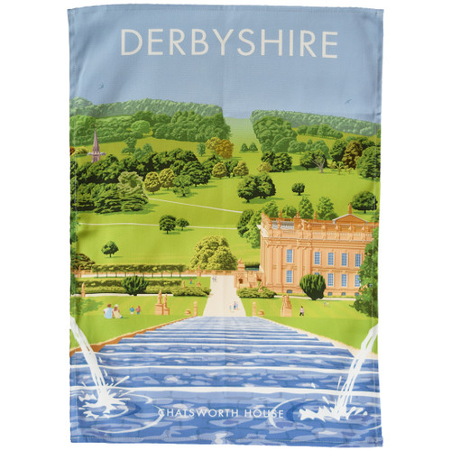 Derbyshire - Chatsworth House tea towel