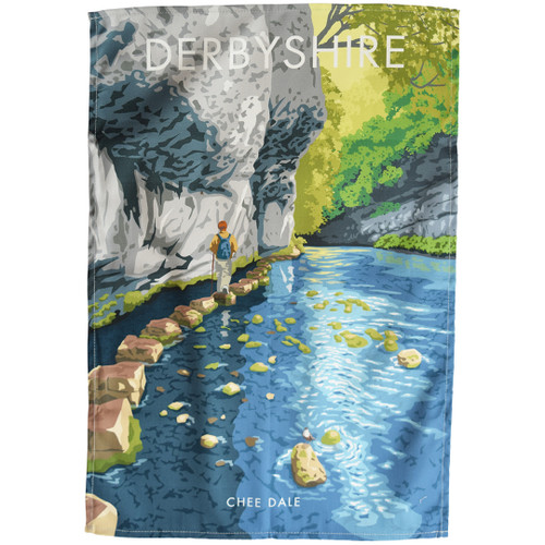 Derbyshire - Chee Dale tea towel