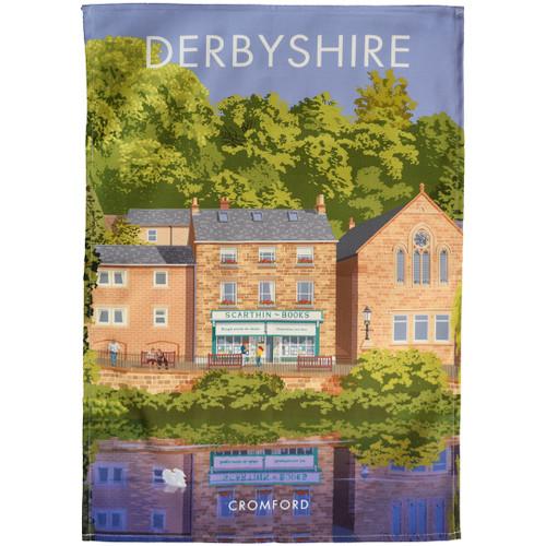 Derbyshire - Cromford tea towel