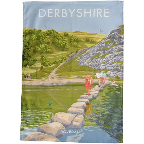 Derbyshire - Dovedale tea towel