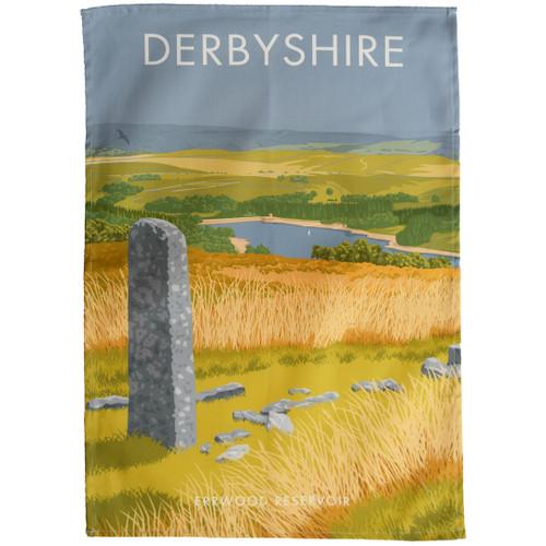Derbyshire - Errwood Reservoir tea towel