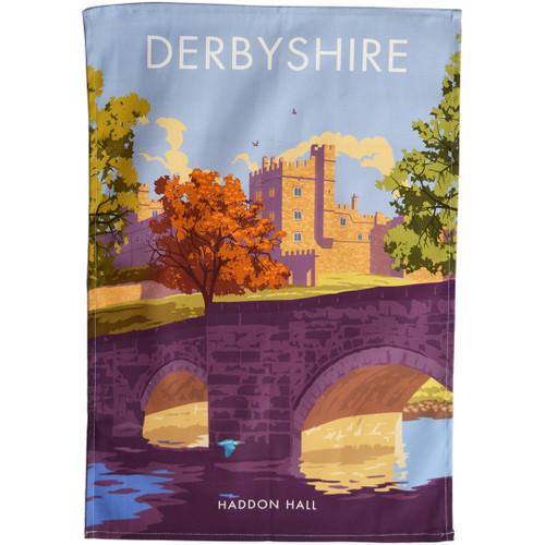 Derbyshire - Haddon Hall tea towel