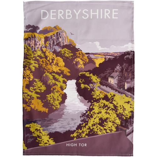 Derbyshire - High Tor tea towel