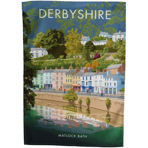 Derbyshire - Matlock Bath tea towel