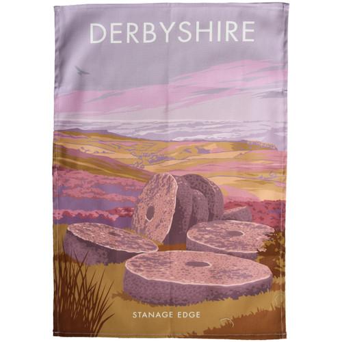 Peak District - Stanage Edge tea towel