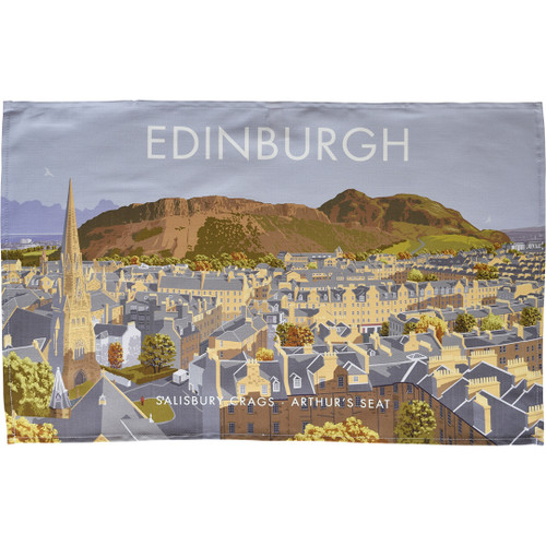 Edinburgh - Salisbury Crags, Arthur's Seat tea towel
