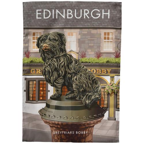 Edinburgh - Greyfriars Bobby tea towel
