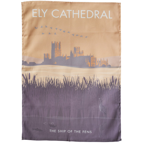 Ely Cathedral - the Ship of the Fens tea towel