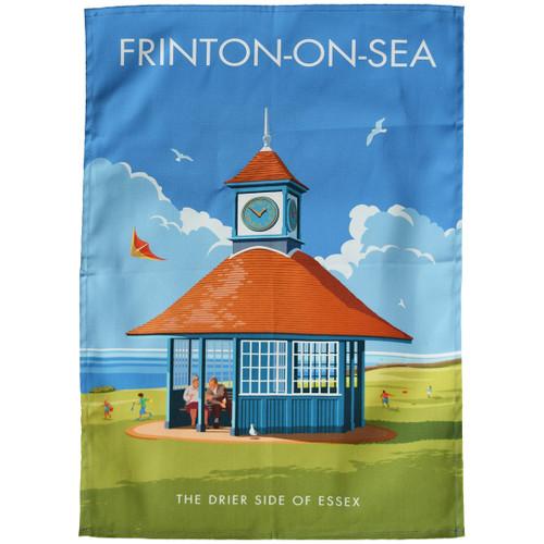 Frinton-on-Sea Clock tea towel