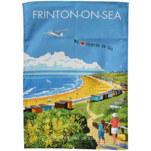 Frinton-on-Sea Beach tea towel