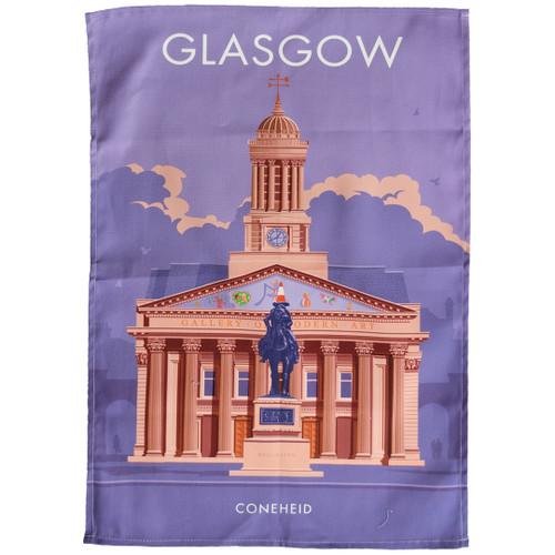 Glasgow - Coneheid tea towel