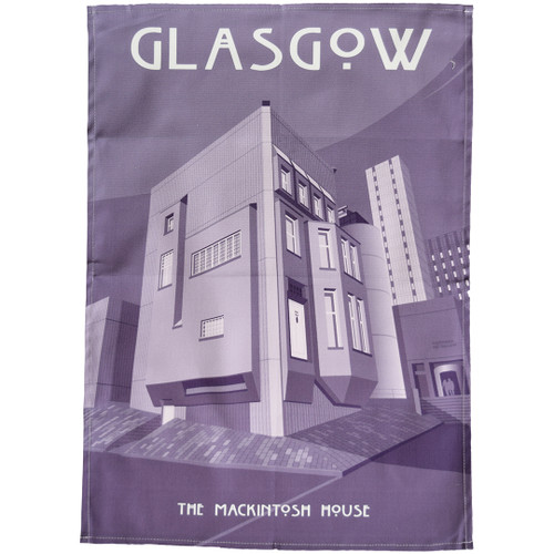 Glasgow - Mackintosh House tea towel